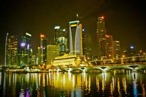 Singapore Night Skyline by ahmad0410