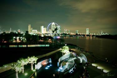 Singapore Night Landscape by ahmad0410