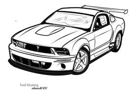 Ford Mustang Vector Art by ahmad0410