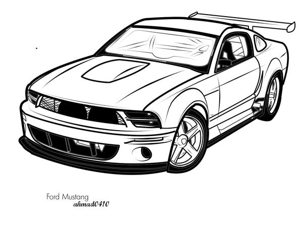Ford Mustang Vector Art By Ahmad0410 ...