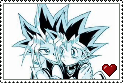 yugi x yami stamp by Chief-of-Blaze