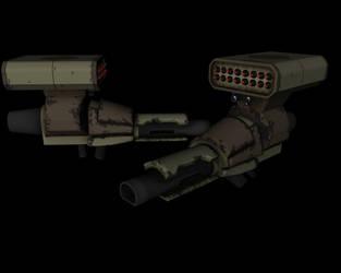 Plasma Cannon With A Rocket by Makka12