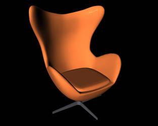 An egg shaped chair by Makka12