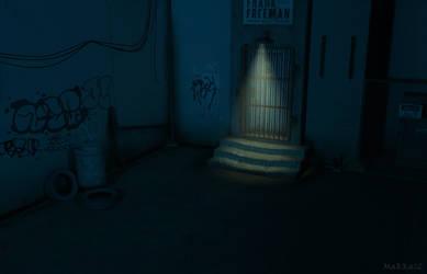 Dark Half-Life Style Alley by Makka12
