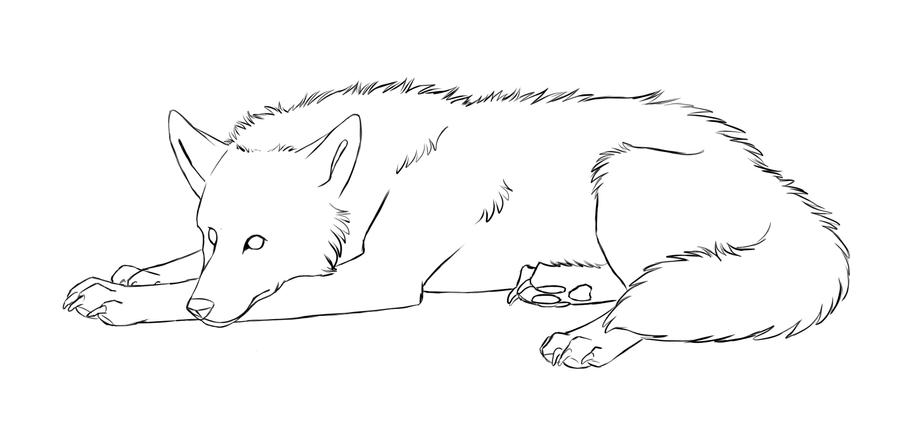 Line Art Wolf : Free wolf lineart by kqeina on deviantart