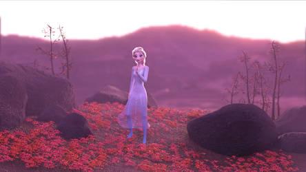Elsa 3d Model - Frozen 2 Fall Render