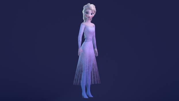 Elsa 3d Model - Frozen 2