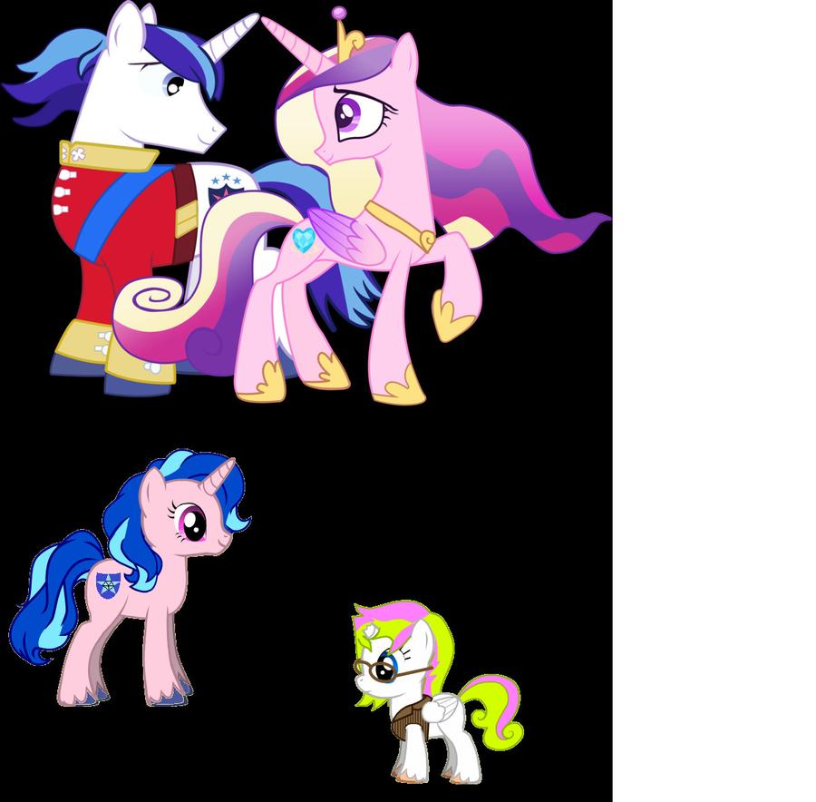 Princess Cadence and Shinig Armor's Family by ...