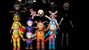[C4D] Pack fnaf 2 [ + phantoms toys] by Downgameplay
