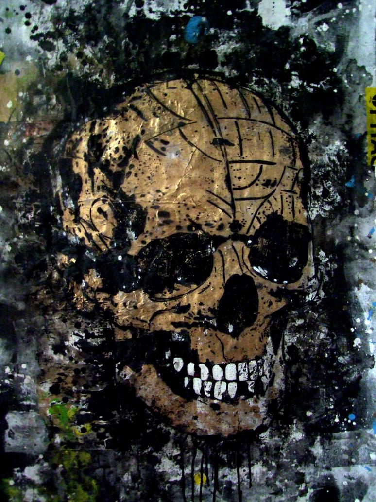 skull gold by ac3monitor on deviantart. Black Bedroom Furniture Sets. Home Design Ideas