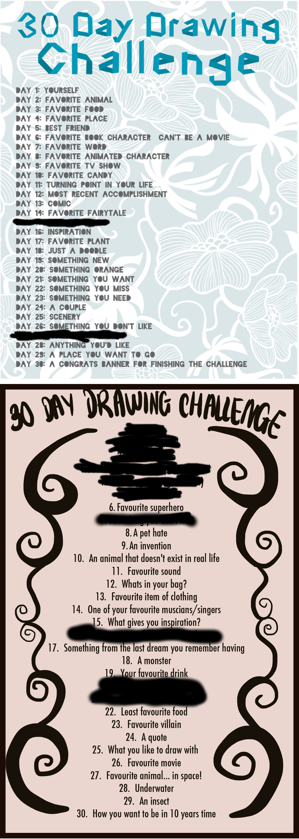 Drawing Challenge by nonpondo