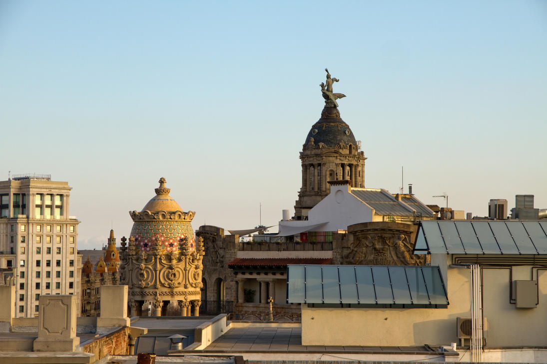 Barcelona Rooftop View by parallel-pam