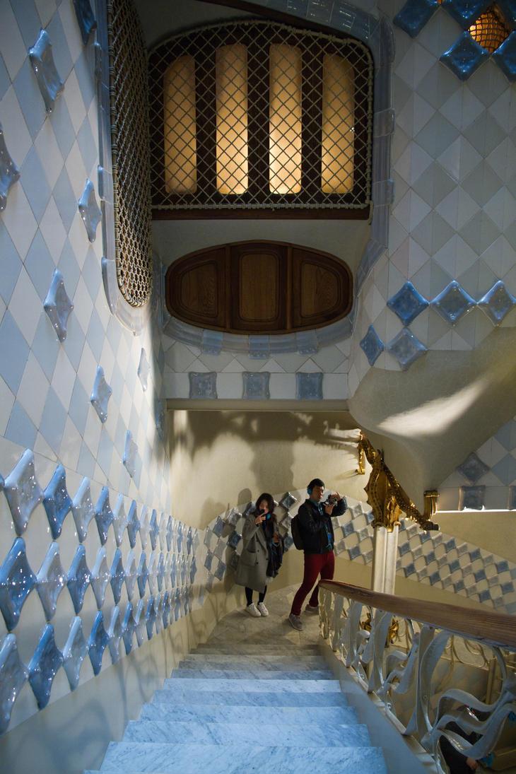 Gaudi Stairway by parallel-pam