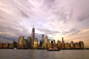 Manhattan Sunset by parallel-pam