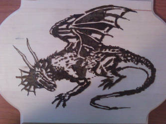 Pyrography - Dragon by naaxha