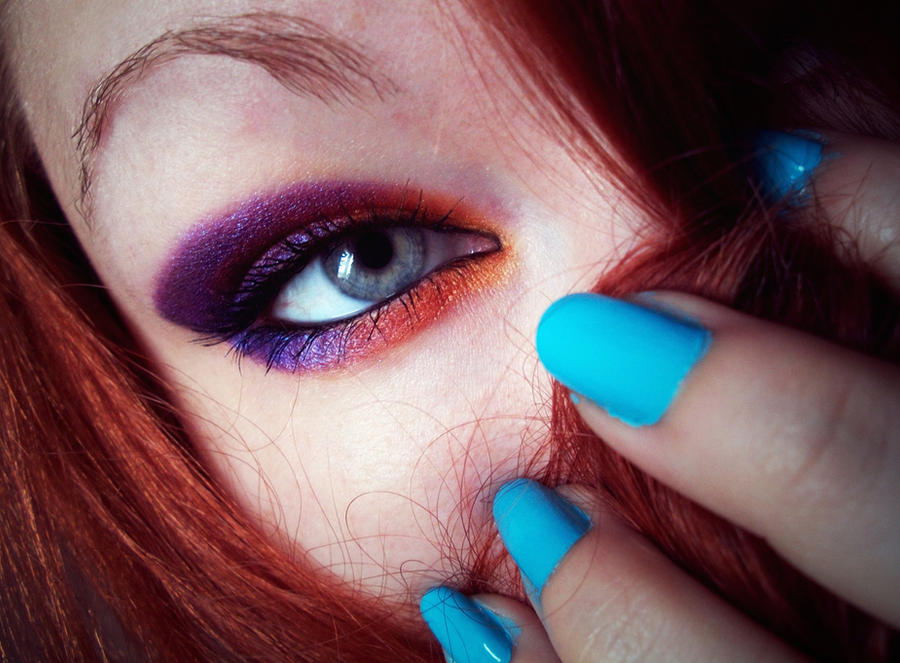 Purple Orange Blue by Jennybicky
