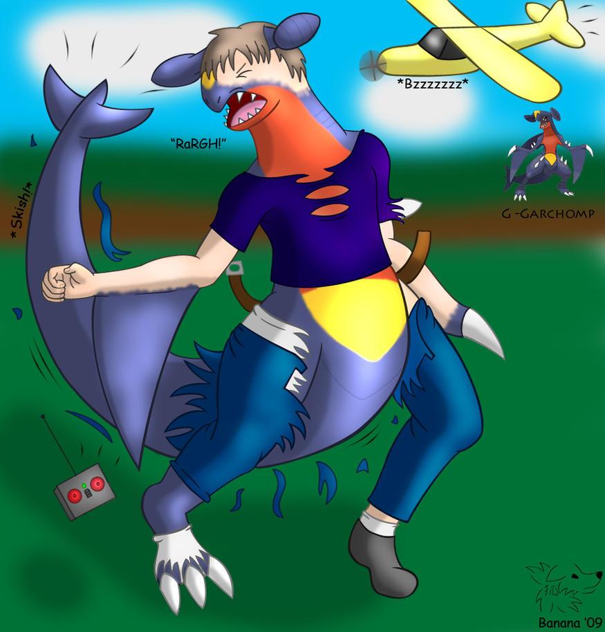 Pokemon G: Garchomp TF by Banana-of-Doom2000