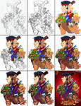 Street Fighter - The Original 8 (JTI) Group Steps
