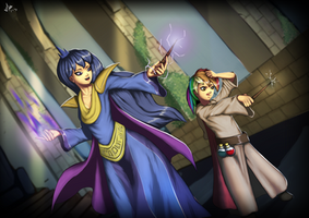 RainbowFeather Learning Magic with Luna bydeilan12 by Q99