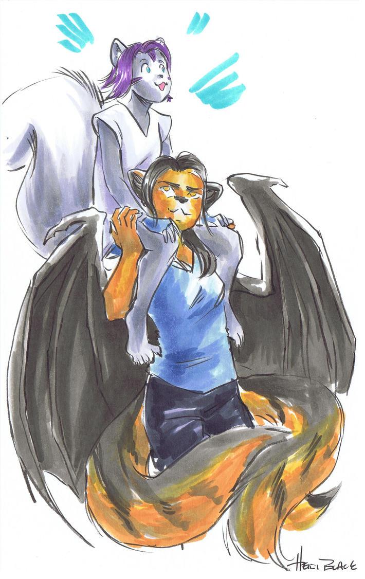 Eirene Cir Tigerbat and Sanchay by Heidi Black by Q99