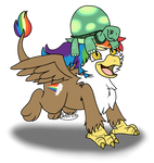 Rainbow Feather and Tank by BreezePleeze