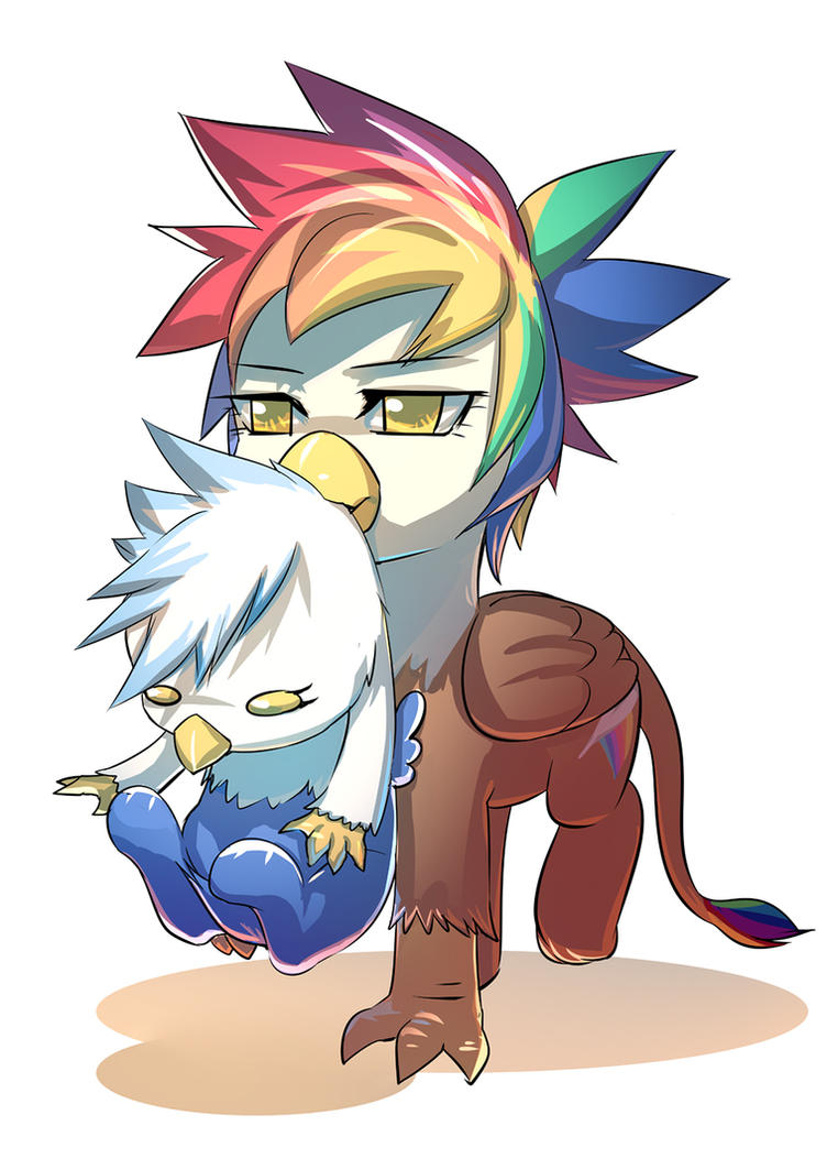 Rainbow Feather Carrying Gren by bakki by Q99