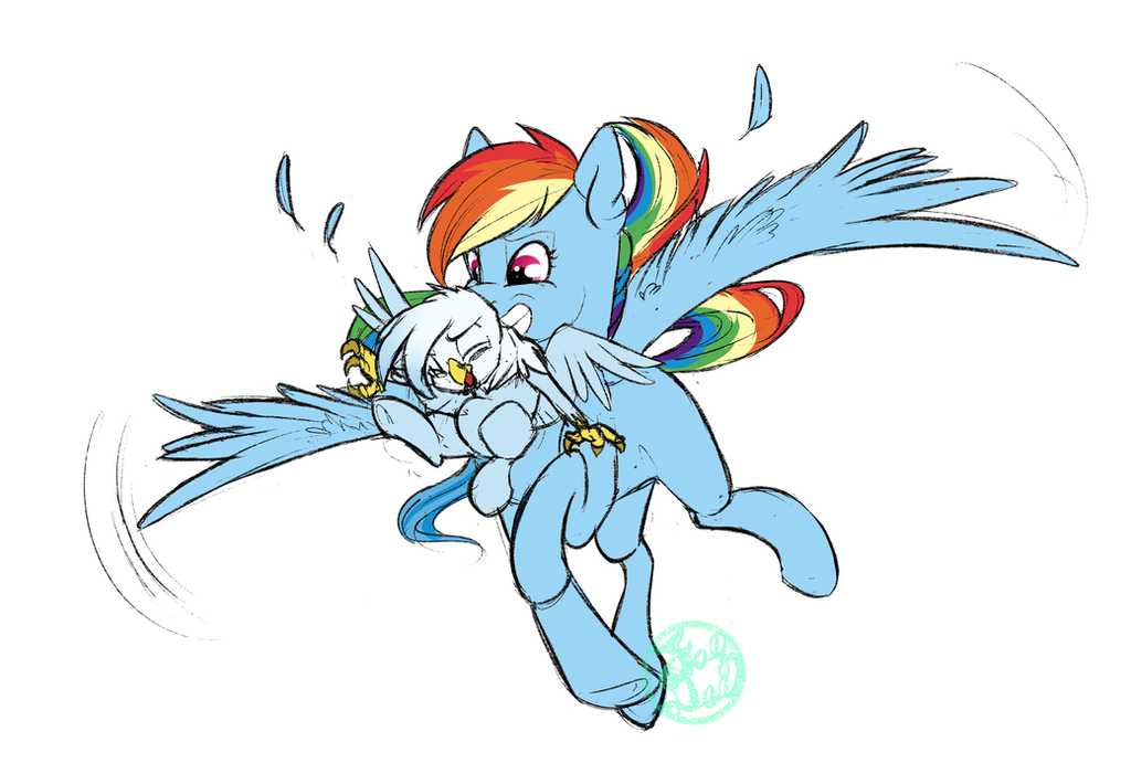 Dash and lil squirming Gren by FarewellDecency by Q99