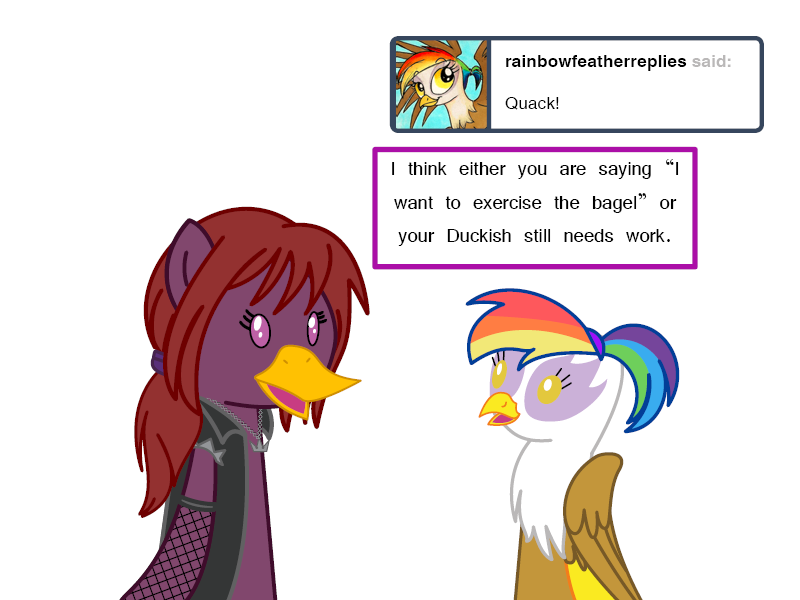 Learning Duckish Mikayla+Feather by d-azulrgb by Q99
