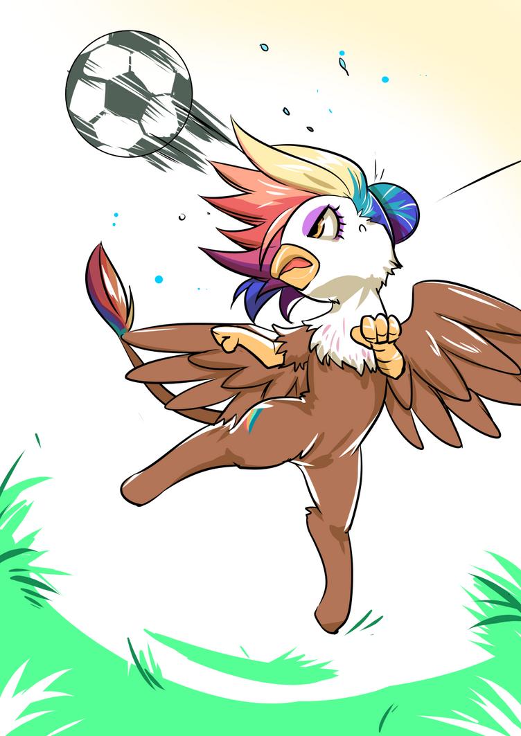Hoofball Header Rainbow Feather By Bakki by Q99