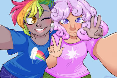 Rainbow Feather and Quartz Horn Sefie by LoveWin by Q99