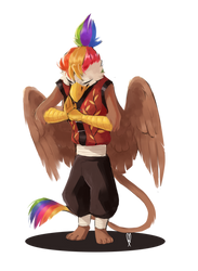 Kung Fu Rainbow Feather By Maxiima by Q99