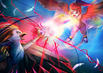 Nightmare RainbowFeather Vs Rainbow Power By Bakki by Q99