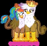 Wing Hug Royal Griffons by SerenaMidori by Q99
