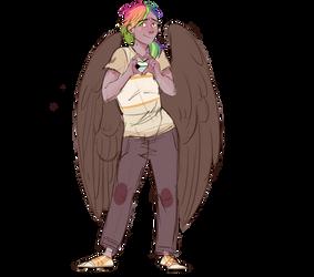 Rainbow Feather Demi Pride By Maxiima