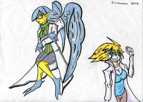 Professor Cee and Future Tiff by Chronozen