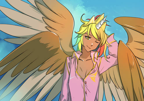 Messy Aligriffon Princess Feather By Bakki