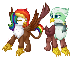 Rainbow Feather And Greta By CherryEssence