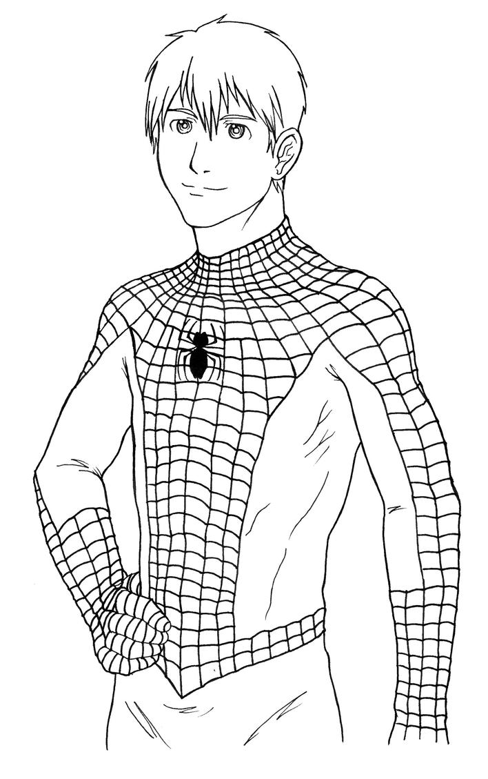 coloring pages spiderman easy drawings - photo#25