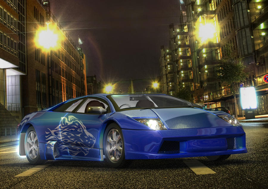 Blue Murcielago by nursury0