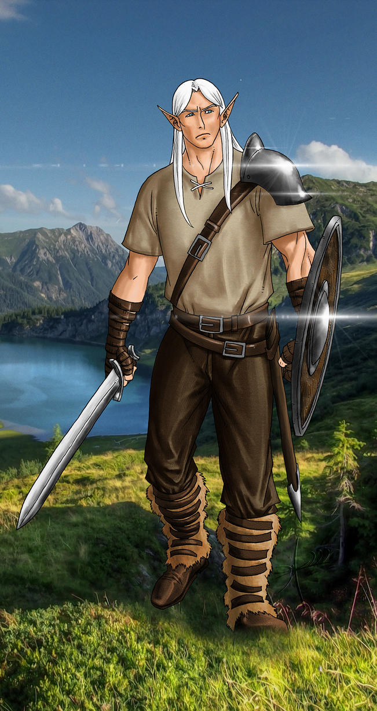 Forlorn, the Barbarian Elf by szhaddad2