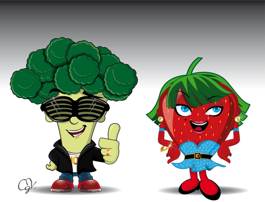 frutas caricaturas by cegaveal on DeviantArt