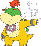 Fan Art: Bowser Jr. Tells You to go to Jail