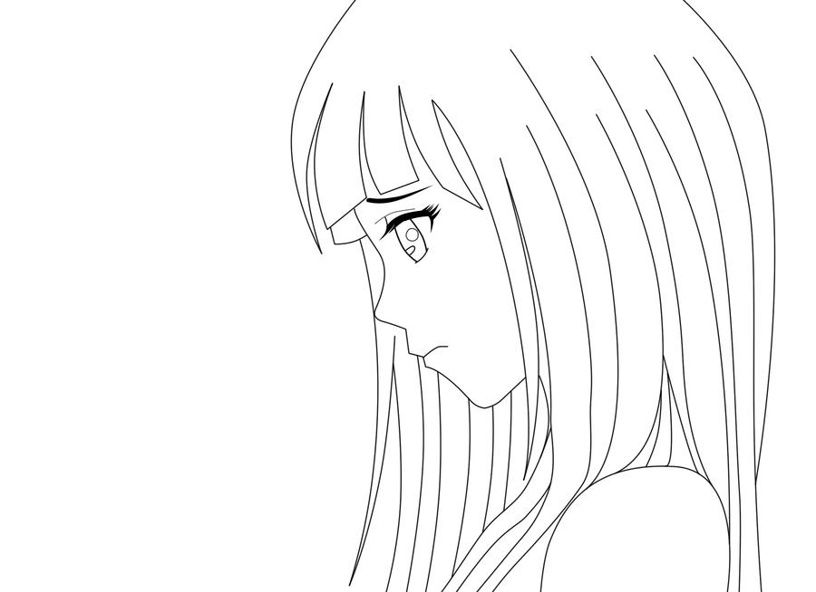 Line Drawing Sad Face : Hinata sad face by frogggy on deviantart
