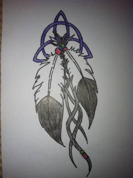indian feather tattoo by kobloodrose on deviantart. Black Bedroom Furniture Sets. Home Design Ideas