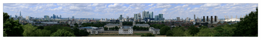 Panorama of London from Greenwich by sandor-laza