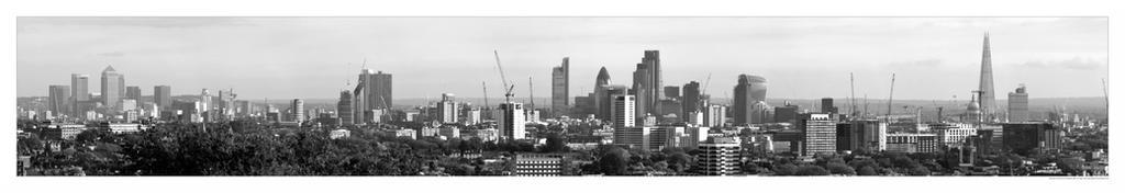 Panorama of London from Hampstead Heath by sandor-laza