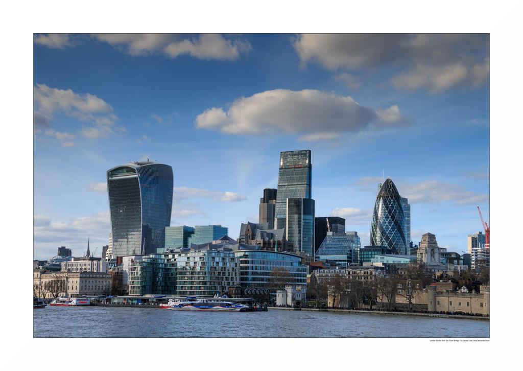 London Skyline from the Tower Bridge by sandor-laza