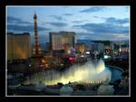 Las Vegas fountaines by sandor-laza