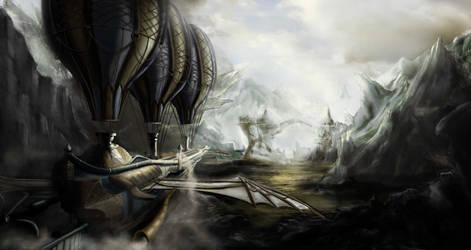 Airship by heather-mc-kintosh