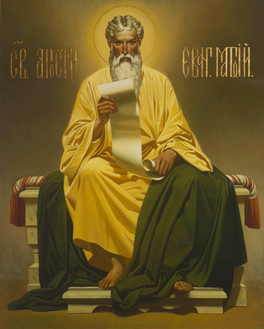 The Holy Apostle and Evangelist Matthew by Ferrabra